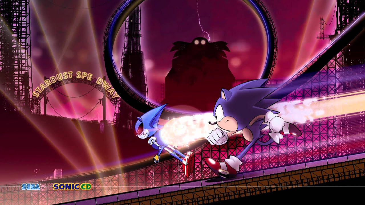 Moving Wallpaper Hd 1080p 3d Sonic Cd Jap Stardust Speedway Bad Future Remix By