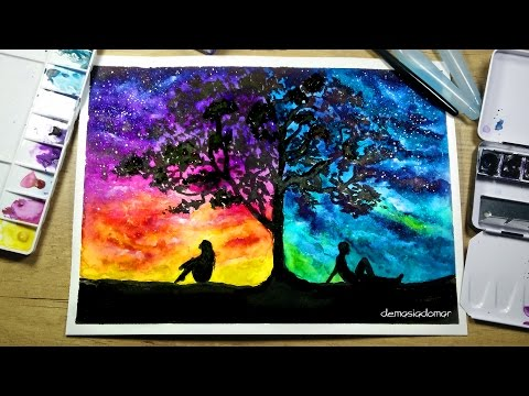 Two Different Worlds - Speed Painting [Watercolor & Ink]