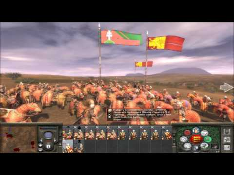 """Medieval 2 Total War online battle #130: """"4 player Free For All"""""""