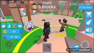 My First ROBLOX Game At My CellPhone (Mining Simulator