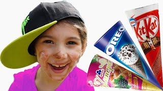 Аня делает вкусное Мороженое, смешное видео для детей