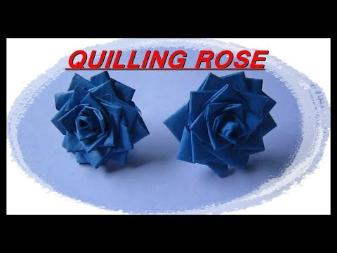 Quilling rose | made of paper strip
