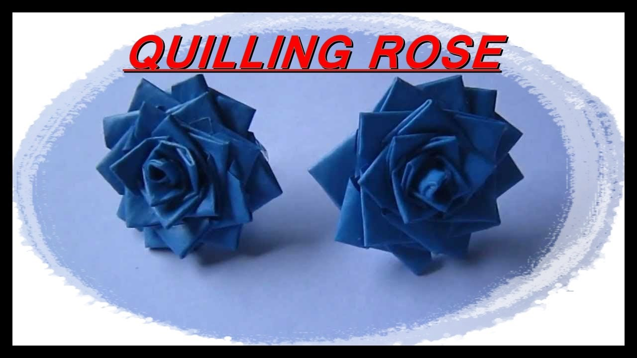 Quilling rose made of paper strip youtube quilling rose made of paper strip mightylinksfo