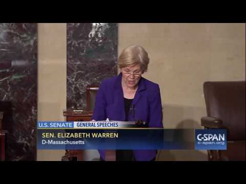Sen. Elizabeth Warren on Donald Trump (C-SPAN)