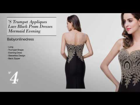 Women's Black Prom Dresses with Glamor // Amazon Fashion Best Sellers