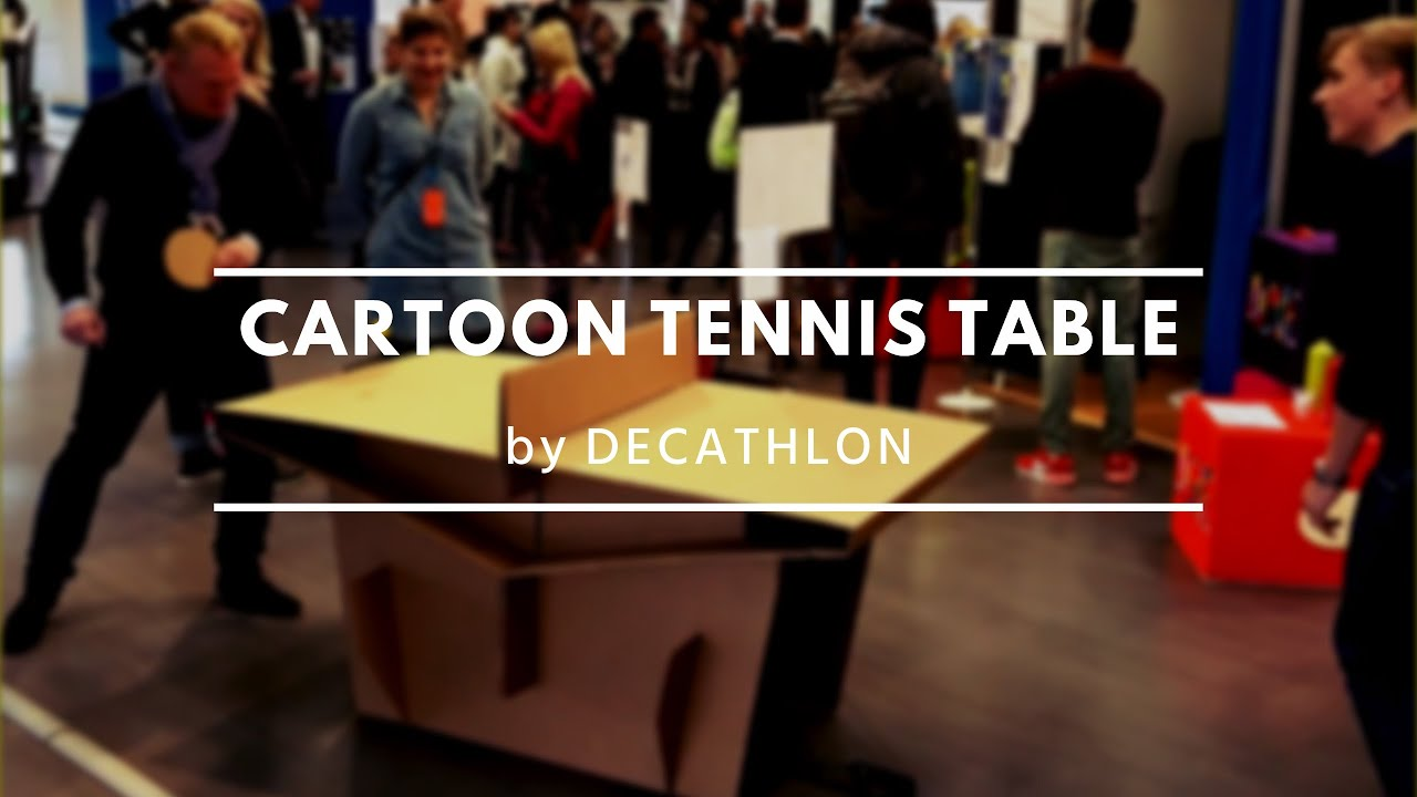 cartoon table tennis by decathlon youtube. Black Bedroom Furniture Sets. Home Design Ideas