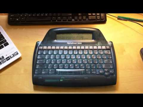 AlphaSmart 3000 Word Processor Overview