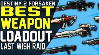 Destiny 2 BEST WEAPONS LOADOUT FOR LAST WISH RAID - Kinetic, Energy, Power Raid Weapon Guide