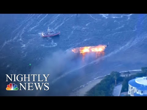 See Florida Casino Shuttle Boat Burst Into Flames!  Yikes!