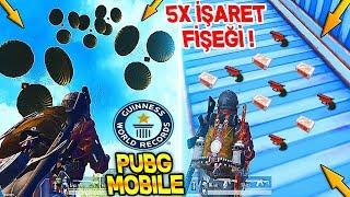 DÜNYA REKORU AYNI YERDE 5 İŞARET FİŞEĞİ BULDUK WORLD RECORDS - PUBG Mobile