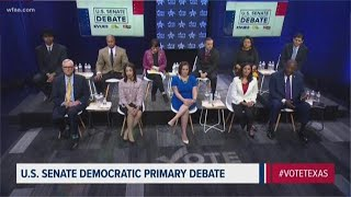 Democratic U.S. Senate candidates debate in Austin as early voting begins