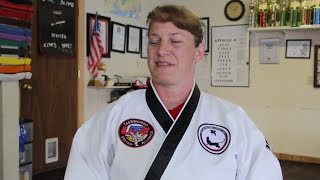 Digital Original: Blind black belt martial arts teacher empowers youth to fight without the use of s