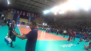 05-10-2014: Bonitta bazooka a Bari dopo la vittoria con la Cina
