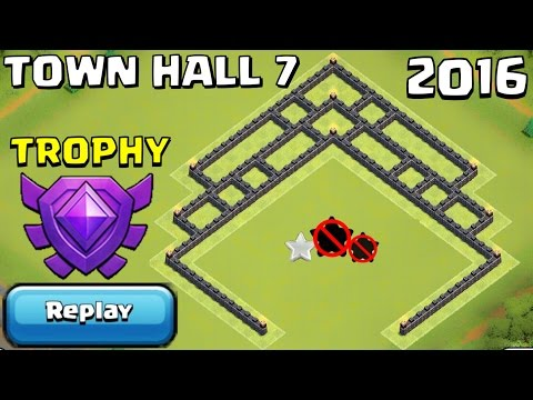 TH7 TROPHY/FARMING Base + REPLAYS PROOF UNDEFEATED | Town Hall 7 Crystal League - Clash of Clans