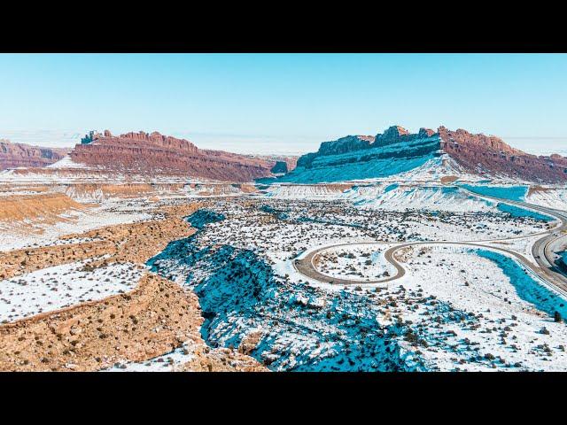 San Rafael Swell (Winter Edition)   UTAH DRONE SHOTS
