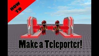 How to make a teleporter in Roblox Studio! (Read Desc.)