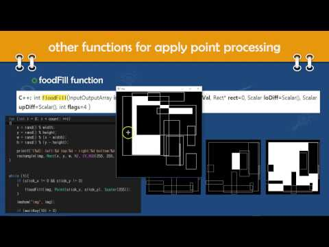 OpenCV Lecture - 5  point processing (5/6) : floodFill function