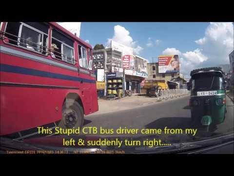 Sri lankan Stupid CTB bus driver and his followers NC 2211,CTB Depot -Kotmale (KOT44)