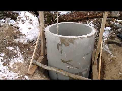 ремонт колодца в плывуне Арефино