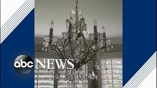 Chandeliers shake as 6.4 magnitude earthquake hits California | ABC News