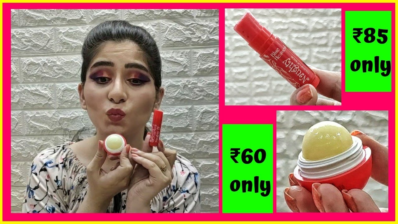 Affordable lip balms starting at Rs. 60 (2020) | Blue heaven Lip bomb & naughty colour lip balm