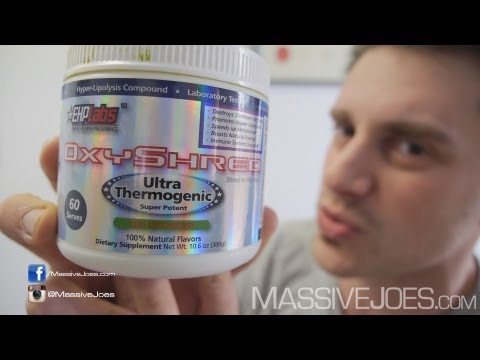 EHPlabs OxyShred Fat Burner Supplement Review - MassiveJoes.com RAW Review Oxy Shred EHP Labs