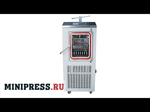 🔥Laboratory Vertical Freeze Drying LG-08 Main Video Minipress.ru