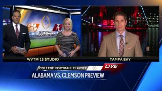 Alabama and Clemson fans arriving in Tampa for championship game