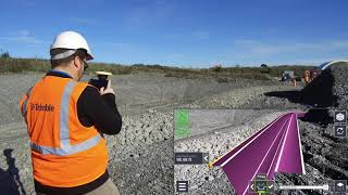 Trimble SiteVision Tutorial - Using the Profile and Alignment application