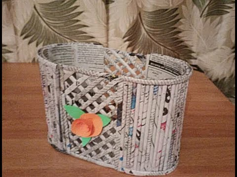 Diy newspaper basket newspaper craft best out of waste for Latest best out of waste