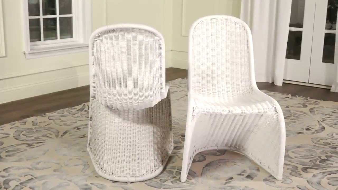 Safavieh Wicker Accent Chairs   Tana SEA8009A   YouTube