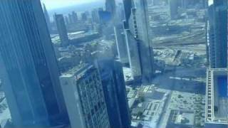View on Burj Khalifa from suite on 63rd floor in Rose Tower, Dubai