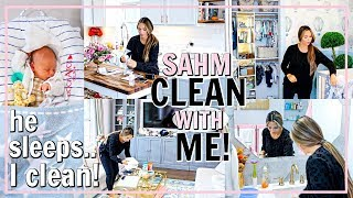 OFFICIAL STAY AT HOME MOM CLEANING ROUTINE! SAHM CLEAN WITH ME FALL 2019 | Alexandra Beuter