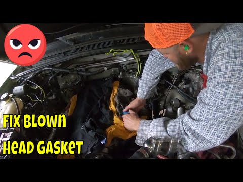HOW TO FIX A BLOWN HEAD GASKET ON A LAND ROVER DISCO PART ONE