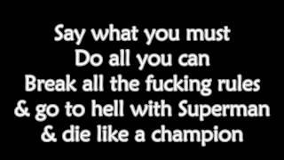 Bad Religion - Do What You Want (Lyrics)