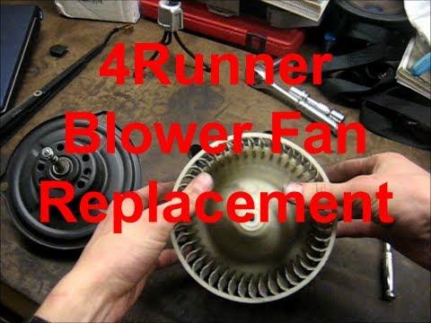 Replacing Blower Fan In Toyota 4Runner