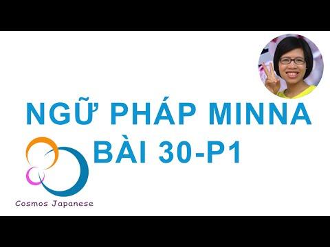 Học ngữ pháp Tiếng Nhật Minna  - Bài 30 - P1