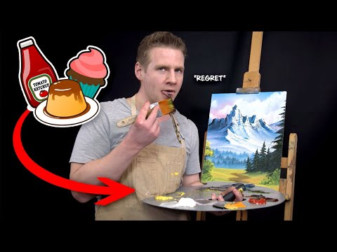 I Make a Bob Ross Painting using ONLY FOOD!??...