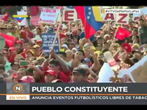 Candidatos a la Constituyente Adán Chávez y Diosdado Cabello desde Barinas, 2 junio 2017