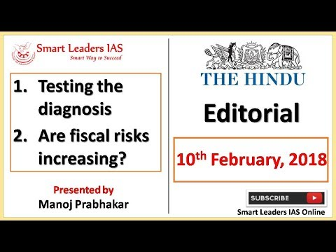 10th February, 2018 | The Hindu | Editorial Discussions | Smart Leaders IAS