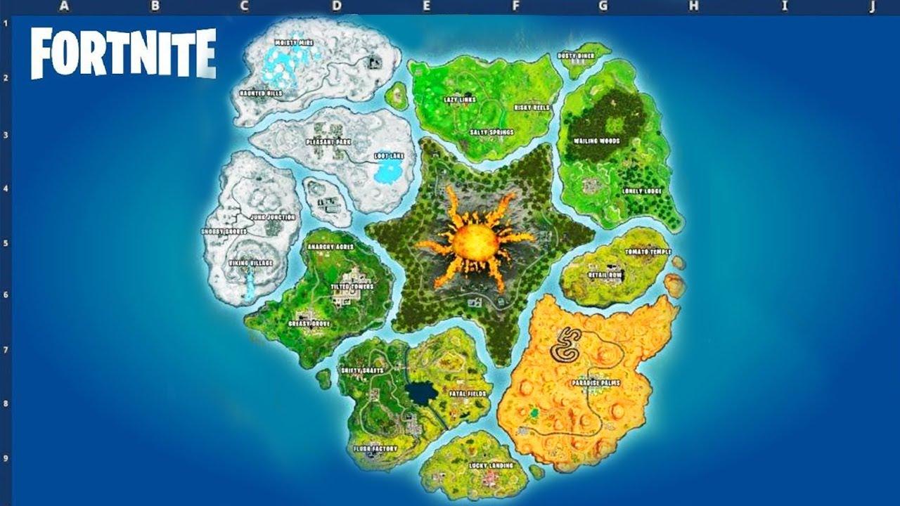 FORTNITE SEASON 8 MAP! (Fortnite: Battle Royale) - YouTube