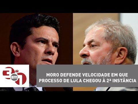 Juiz Sérgio Moro Defende Velocidade Em Que Processo De Lula Chegou à 2ª Instância