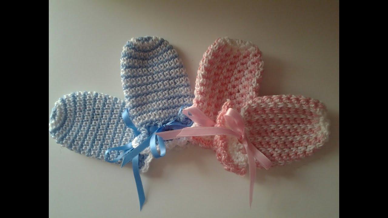 Manoplas (mitones) recién nacido #muy fácil #tutorial #DIY - YouTube