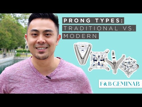 Traditional & Modern Prong Types on Engagement Rings in Under 7 Min - Featuring Claw Prongs