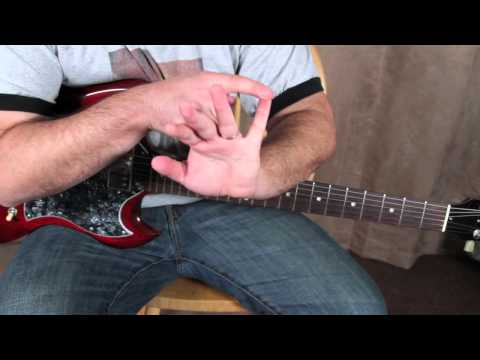 Rock Guitar Lessons - Power Chords just like ACDC and Ozzy and Other Hard Rock Legends