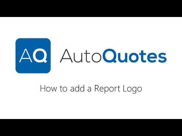 How to add a Report Logo