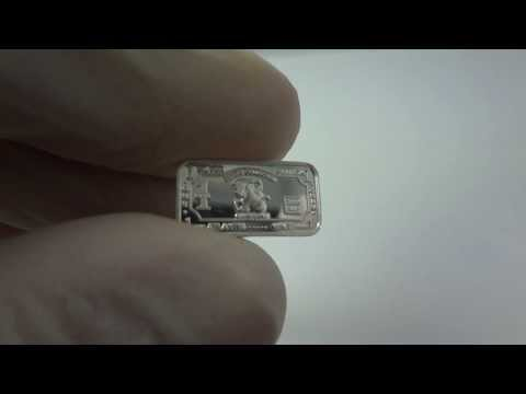 1 gram silver Capricorn zodiac bullion bar .999 fine