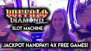 JACKPOT HANDPAY!! I FINALLY GOT THE TOP FREE GAMES! BUFFALO DIAMOND SLOT MACHINE!!