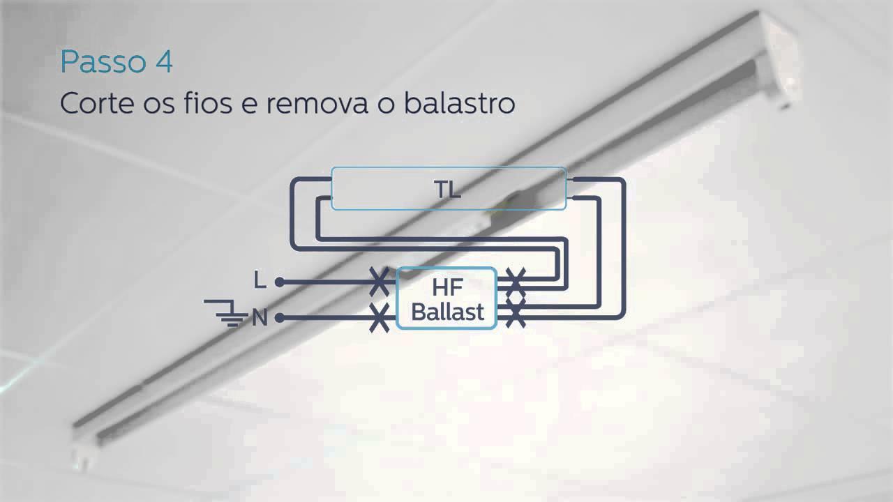 ledtube installation hf ballast 720p pt