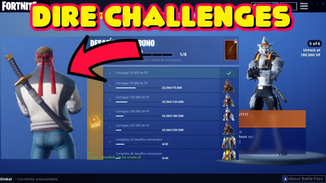 HOW TO UNLOCK WEREWOLF DIRE SKIN EDIT STYLES AND WOLFPACK BACKBLING IN FORTNITE #1